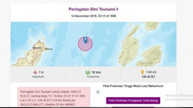 Photo of BREAKING NEWS – Gempa Bumi 7,4 SR Guncang Barat Laut Jailolo – Malut, BERPOTENSI TSUNAMI