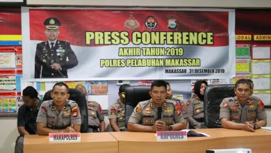 Photo of Polres Pelabuhan Makassar Gelar Press Conference Akhir Tahun 2019